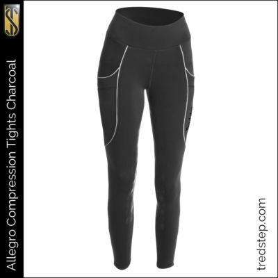 The Tredstep Allegro Compression Tights Charcoal