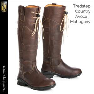 The Tredstep Avoca II Country Boots Mahogany