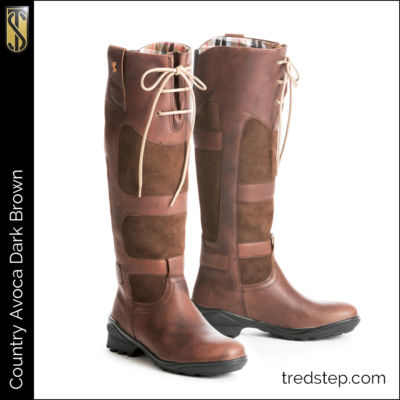 The Tredstep Avoca Country Boots Dark Brown