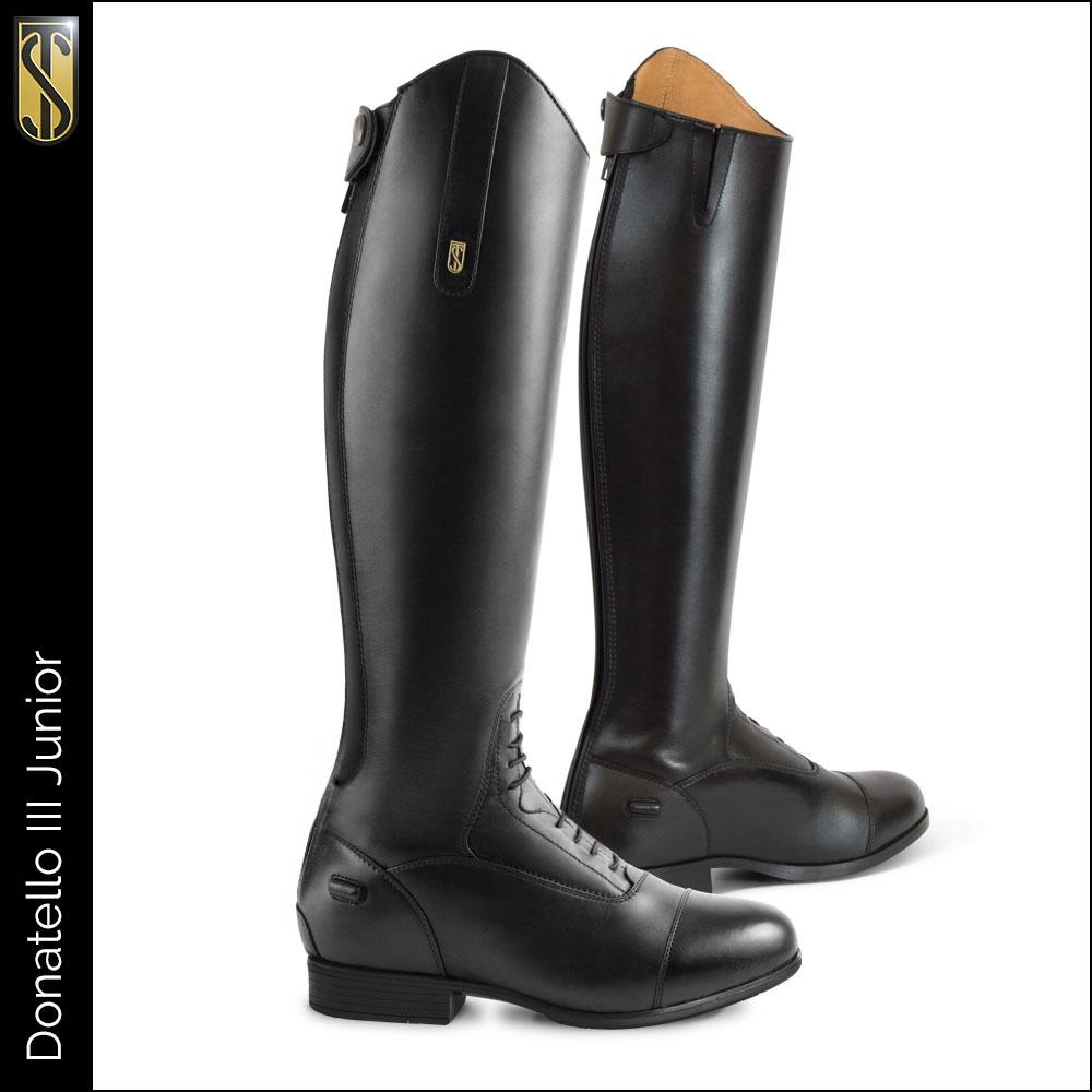 Donatello III Junior Tall Boot Black