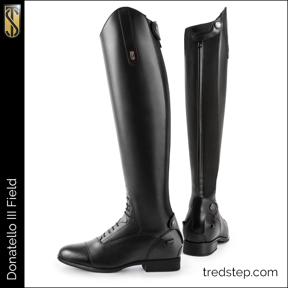 Donatello III Field Tall Boot Black