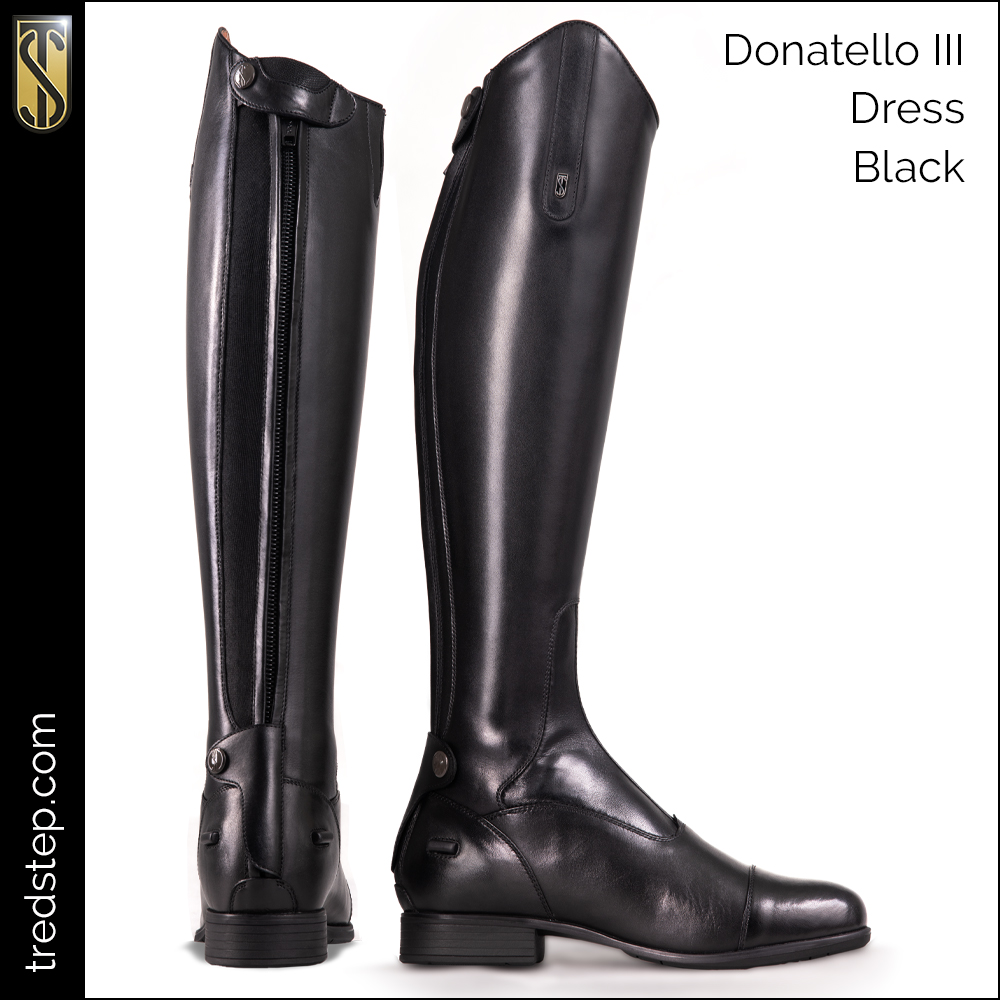 Donatello III Dress Tall Boot Black