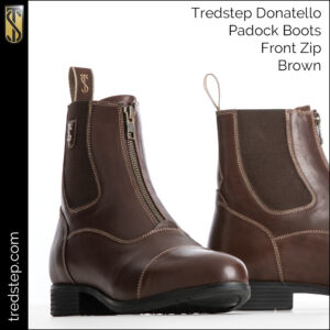 Donatello Front Zip Paddock Boots Brown
