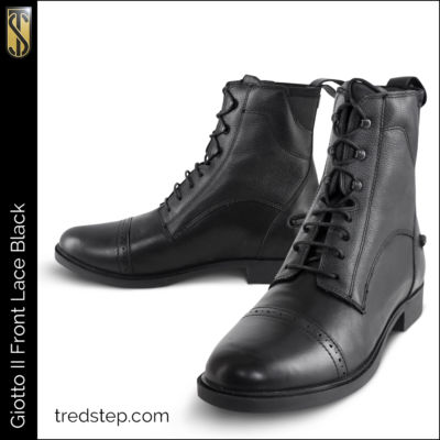 Tredstep Giotto II Front Lace Black Paddock Boot
