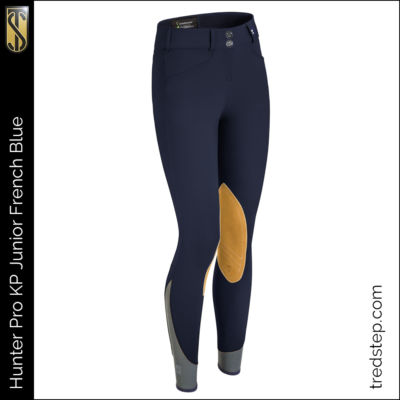 The Tredstep Hunter Pro Junior Knee Patch Breeches French Blue