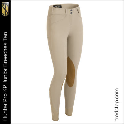 The Tredstep Hunter Pro Junior Knee Patch Breeches Tan