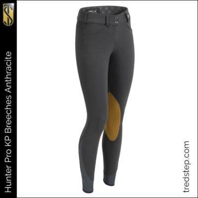 The Tredstep Hunter Pro Knee Patch Breeches Anthracite