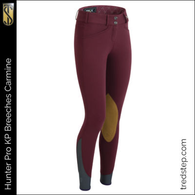 The Tredstep Hunter Pro Knee Patch Breeches Carmine
