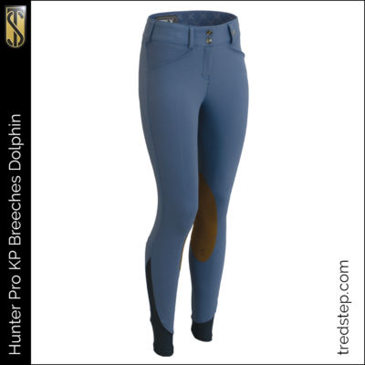 The Tredstep Hunter Pro Knee Patch Breeches Dolphin