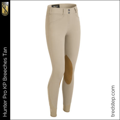 The Tredstep Hunter Pro Knee Patch Breeches Tan