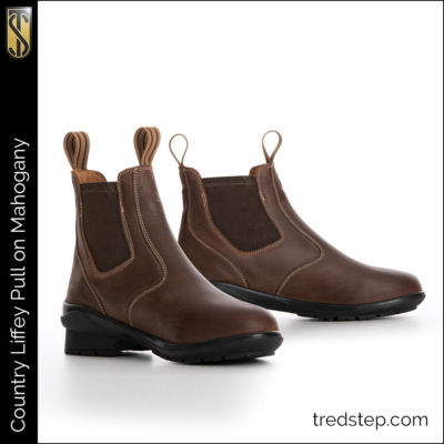 The Tredstep Liffey Pull On Country Boots Mahogany