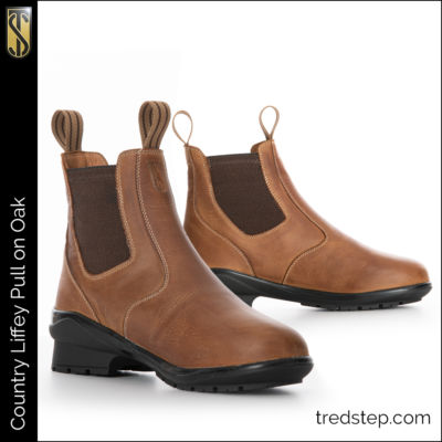The Tredstep Liffey Pull On Country Boot Oak