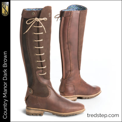 The Tredstep Manor Country Boots Dark Brown