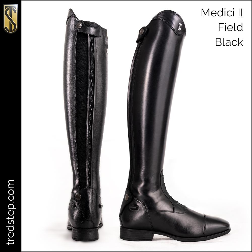 The Tredstep Medici II Field Boot Black