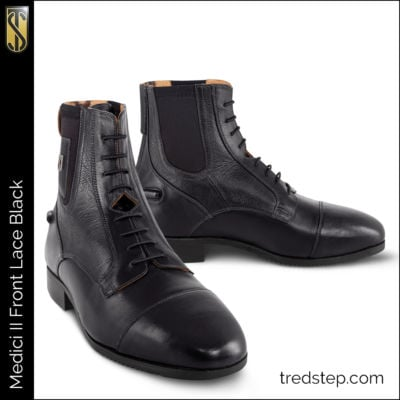 The Tredstep Medici II Rear Zip Front Lace Paddock Boots Black