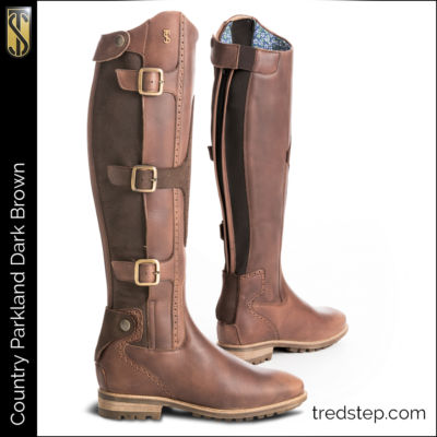 The Tredstep Parkland Country Boots Dark Brown