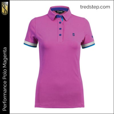 Tredstep Performance Polo Magenta