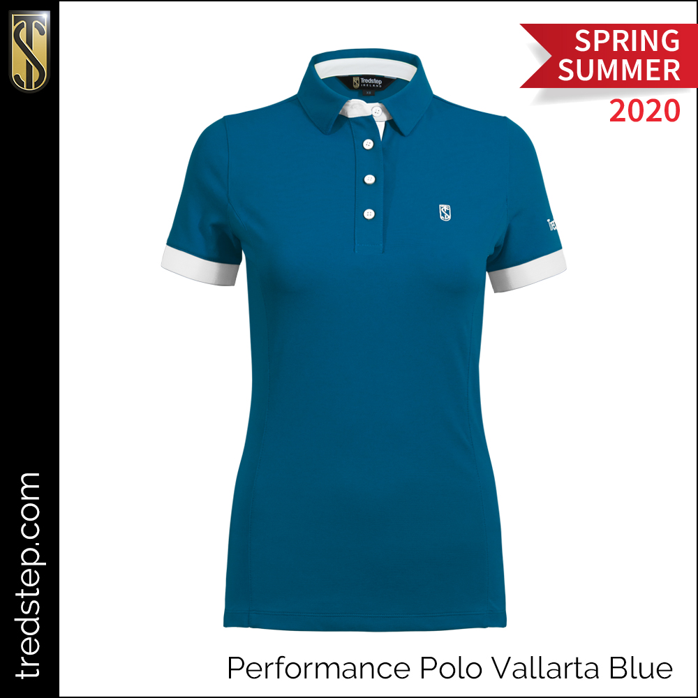 Tredstep Performance Polo Vallarta Blue