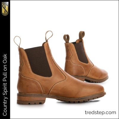 The Tredstep Spirit Pull On Country Boots Oak