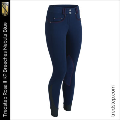 The Tredstep Rosa II Knee Patch Breeches Nebula Blue