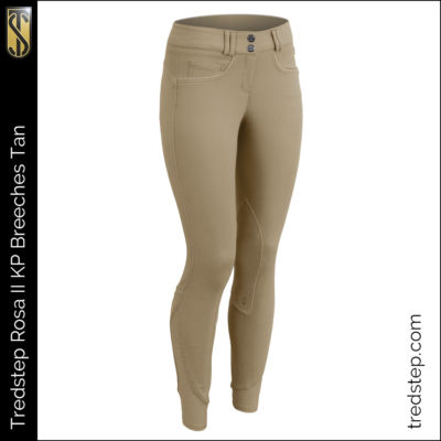 The Tredstep Rosa II Knee Patch Breeches Tan