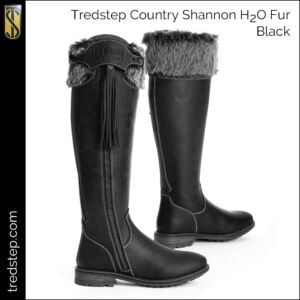 The Tredstep Shannon H2O Fur Country Boots Black