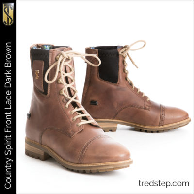 The Tredstep Spirit Front Lace Country Boots Dark Brown