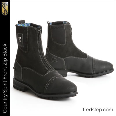 The Tredstep Spirit Front Zip Country Boots Black