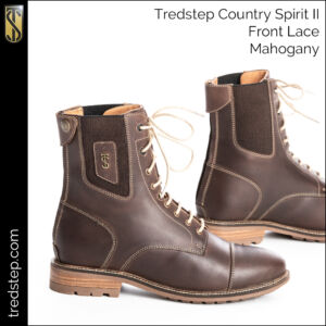 The Tredstep Spirit II Front Lace Country Boots Mahogany