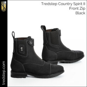 The Tredstep Spirit II Front Zip Country Boots Black