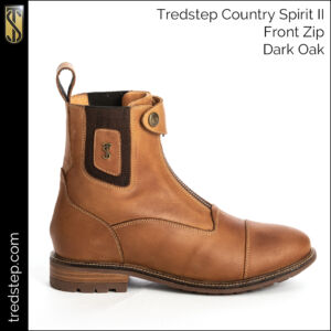 The Tredstep Spirit II Front Zip Country Boots Dark Oak