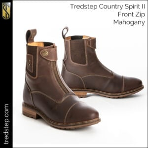 The Tredstep Spirit II Front Zip Country Boots Mahogany