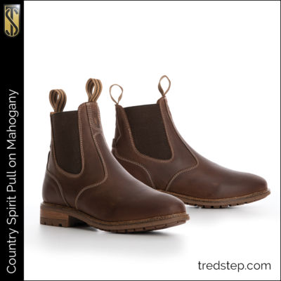 The Tredstep Spirit Pull On Country Boots Mahogany