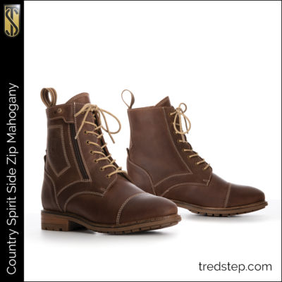 The Tredstep Spirit Side Zip Country Boots Mahogany