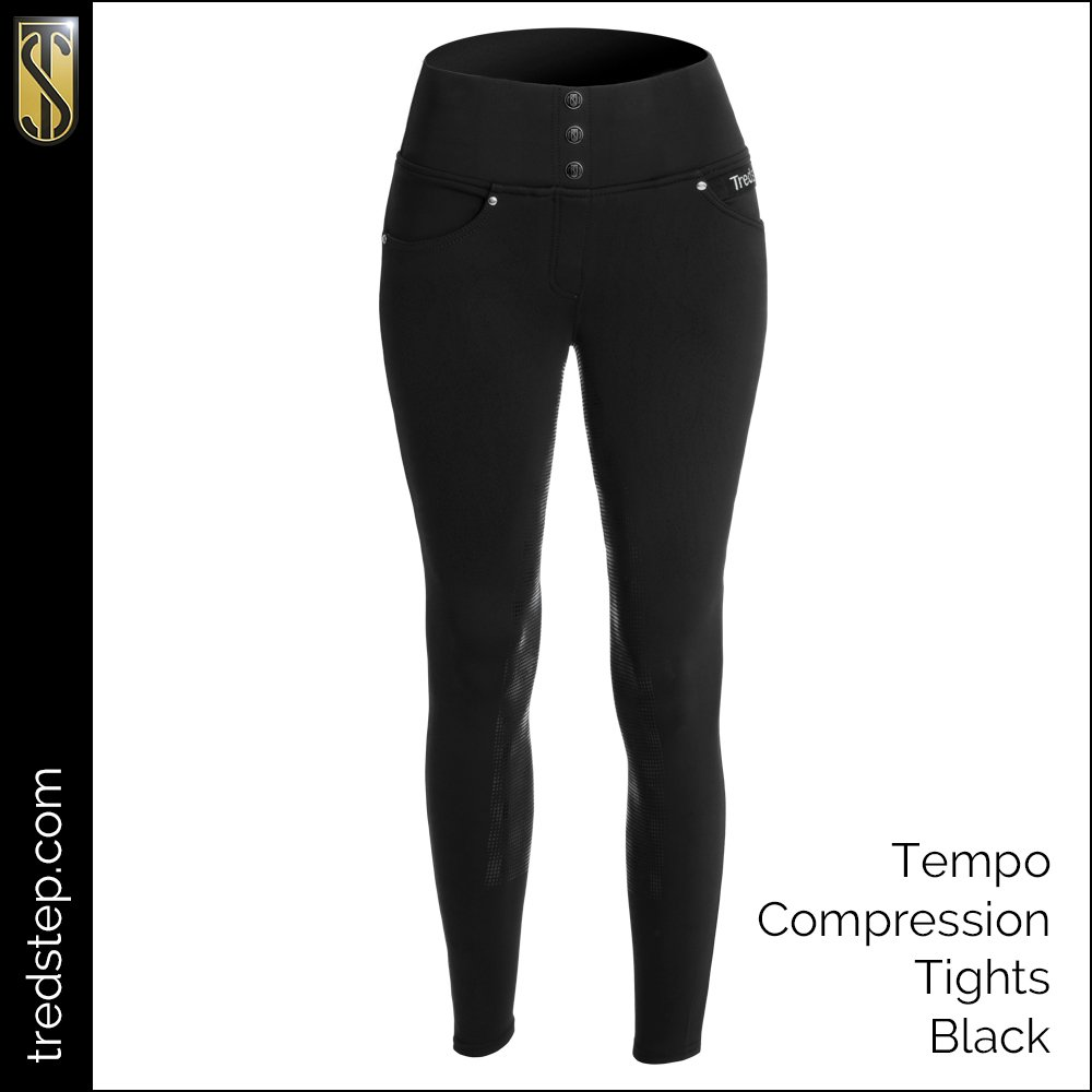 The Tredstep Tempo Compression Tights Black