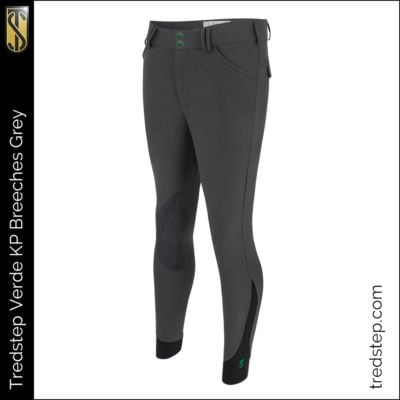 The Tredstep Verde Gents Knee Patch Breeches Grey