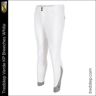 The Tredstep Verde Gents Knee Patch Breeches White