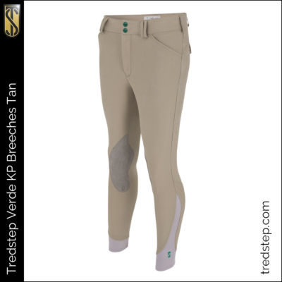 The Tredstep Verde Gents Knee Patch Breeches Tan